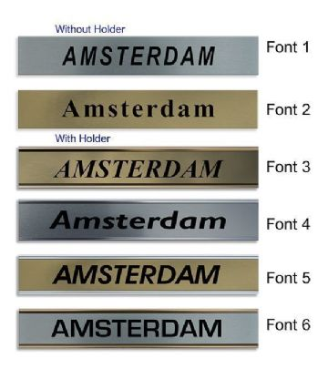 Amsterdam Clock Name Plate |World Time Zone City Wall clocks Sign custom Plaque